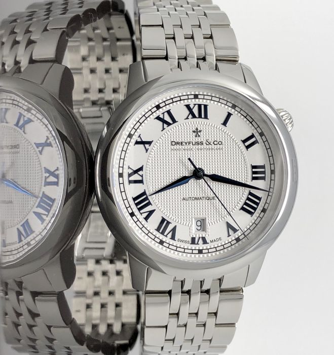 """Dreyfuss & Co. - Automatic Watch 1925 Stainless Steel Silver """"NO RESERVE PRICE"""" - DGB00148/1 - Heren - 2011-heden"""