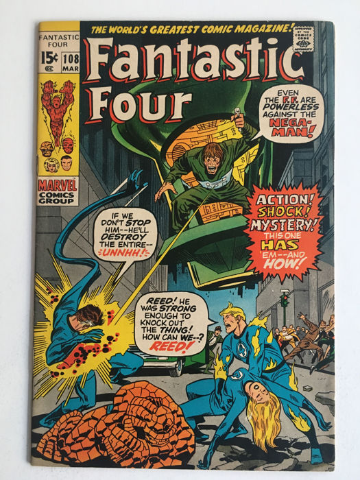 Marvel Comics - The Fantastic Four #108 - 1x sc - (1970)