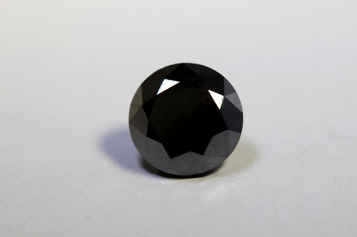 Fancy Black Diamond  - 4.35  ct - ( Color Treated  ) - * No Reserve Price *