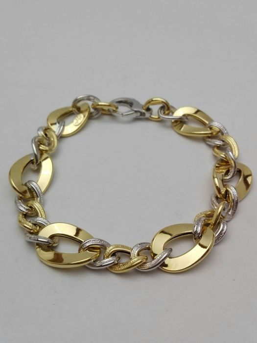 'Il Giglio' women's bracelet in 18 kt yellow and white gold Bracelet weight: 7.9 g