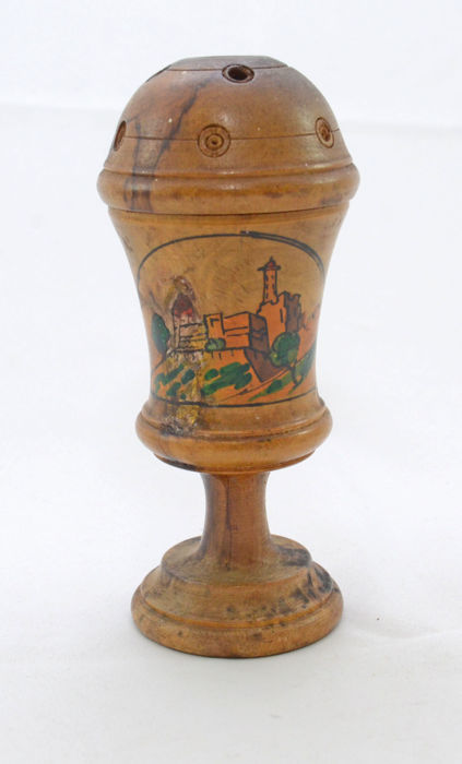 Judaica -Besamim Tower - Olive wood - Havdalah - Tower of David - Jerusalem - 20th century