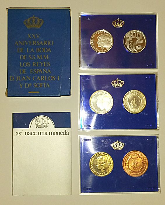 Spain - Juan Carlos I - 500 pesetas, FNMT Proofs, 1987 - The Birth of a Coin - Proof