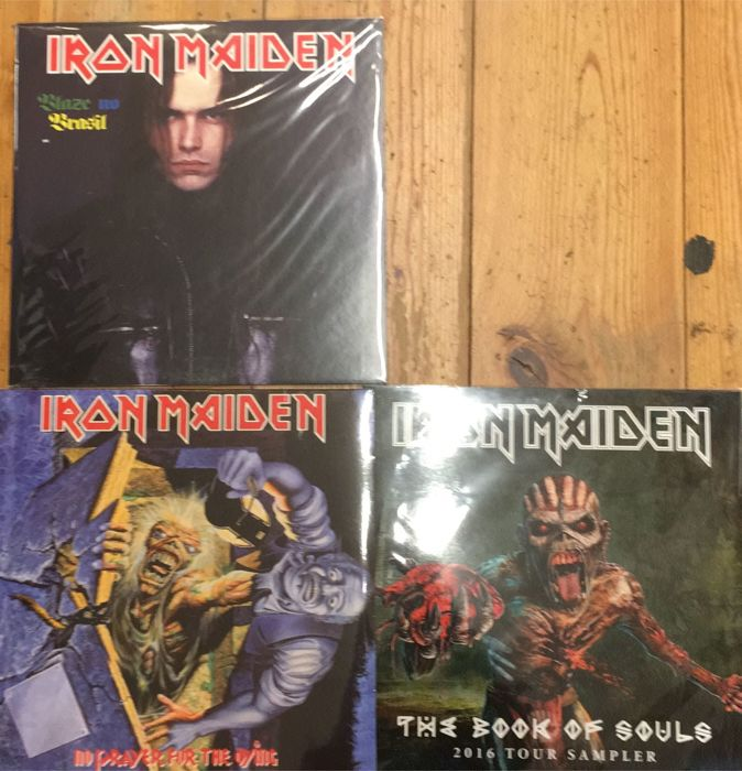 Three albums of Iron Maiden || Limited edition || coloured vinyl