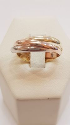 Wedding ring in 18 kt gold, 4.33 g, size 18