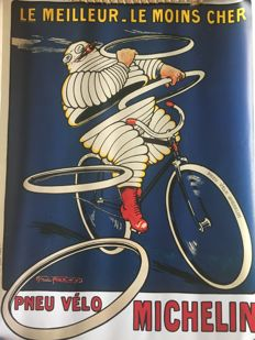 Michelin bicycle tire poster - Stanley Charles Roowy - 1912