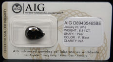 6.81ct. Certified Natural Fancy Black Diamond  - NO RESERVE