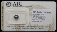 1.08ct. Certified Natural Fancy Black Diamond  - NO RESERVE