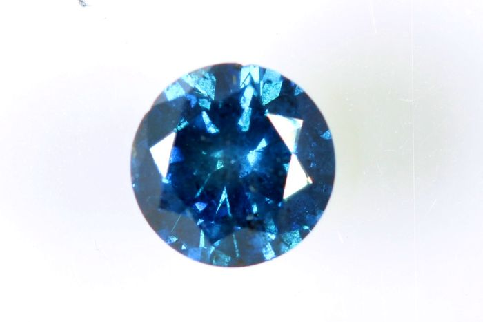 Fancy Blue Diamond - 0.42 ct - SI2 - (Colour Treated) - * No Reserve Price *