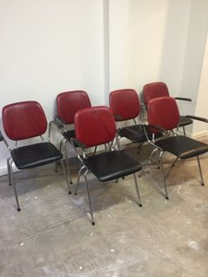 Producer unknown - set of 6 vintage chairs