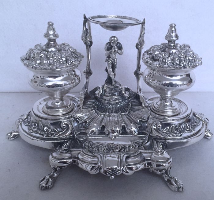 Silver Inkstand, Italy, 20th century