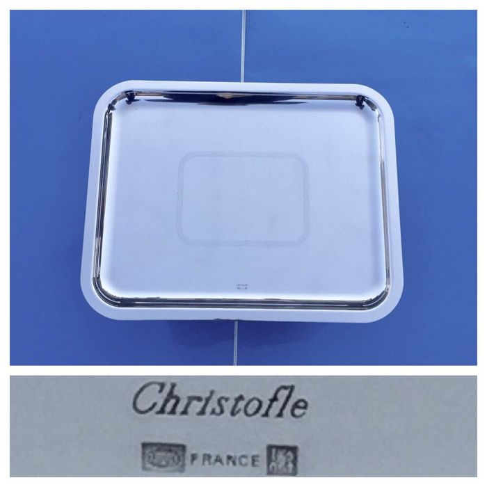 "Christofle ""Fidelio"" Silver plated Tray"