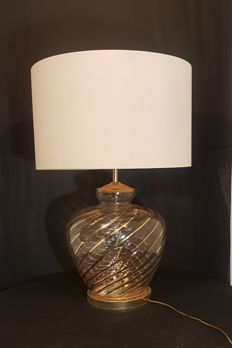 Unknown designer - table lamp with gold-coloured patterns