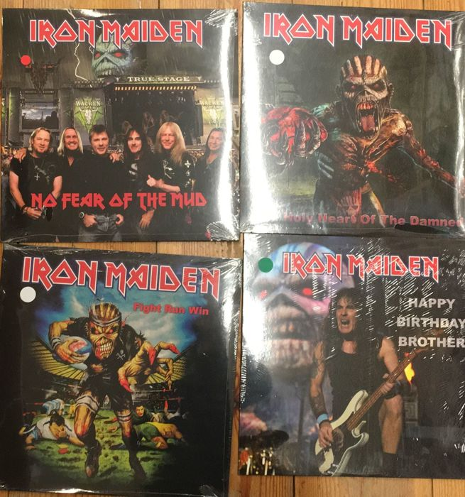 Four albums of Iron Maiden || Limited edition || coloured vinyl