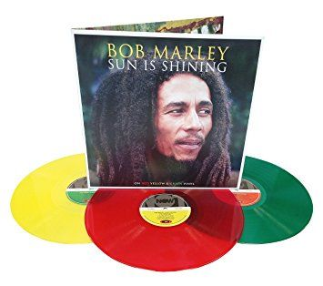 "Bob Marley 3 LP Set ""Sun Is Shining"" - Absolute Reggae Collectors Limited Edition On Rasta Coloured Vinyl"
