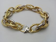 'Il Giglio' women's bracelet in 18 kt yellow and white gold. Bracelet weight: 19.5 g.