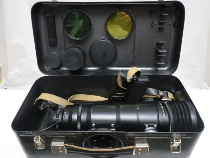 """Camera gun.Photo-Sniper """"FS-12"""" without a camera, with a lens """"Tair-3S"""" and the """"Helios-44-2"""" lens . THE USSR. Very rare camera."""