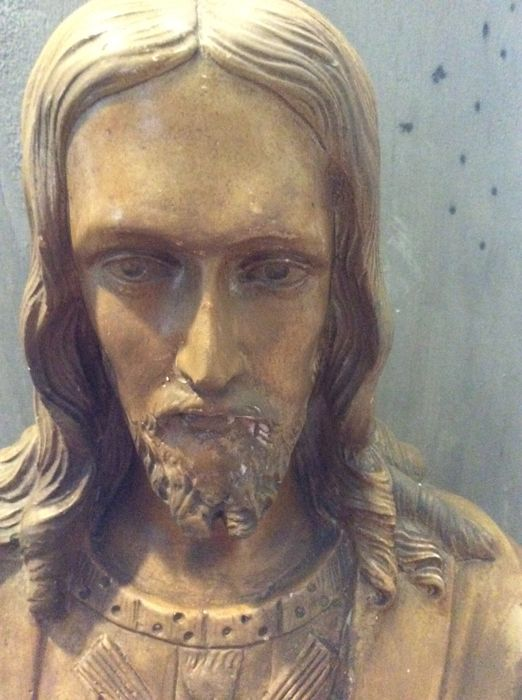Old bust of Chris in plaster, signed and numbered - Italy? France? - 2nd half of the 20th century