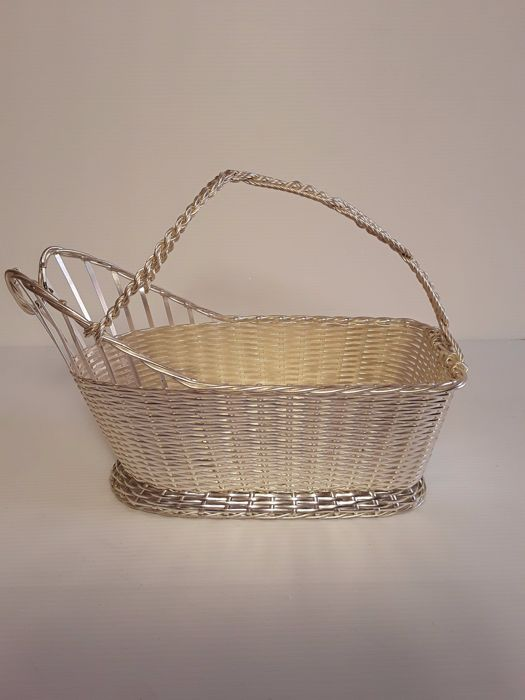 Silver plated wine basket, France ca. 20th century
