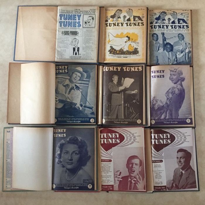 Tuney Tunes - Lot with 9 bound volumes - 1945/1954.