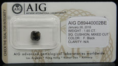 1.65ct. Certified Natural Fancy Black Diamond  - NO RESERVE
