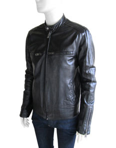 Goosecraft - Black Leather Biker 501 Jacket