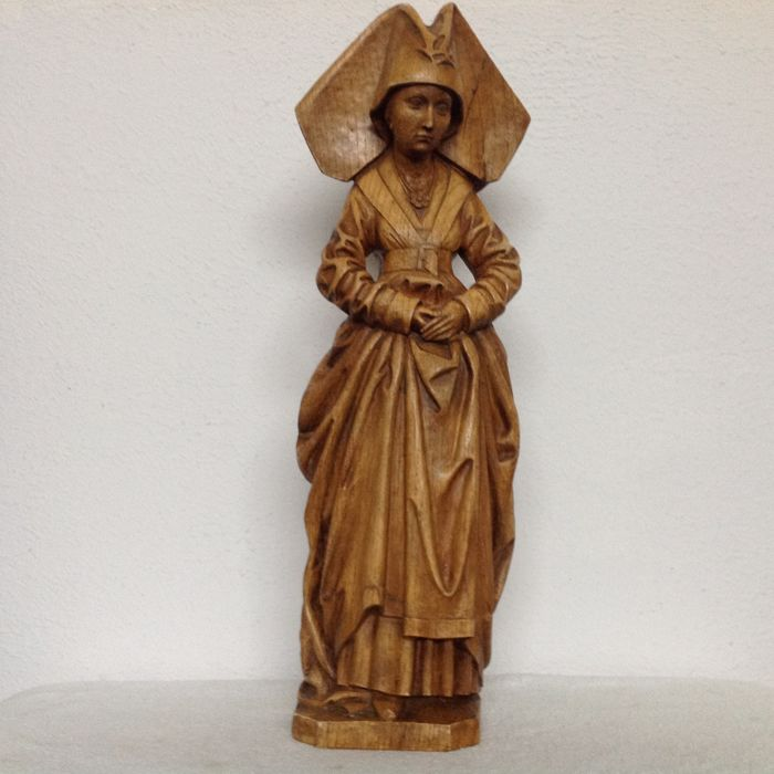 Large terracotta sculpture Mary of Burgundy-Belgium-ca. 1930