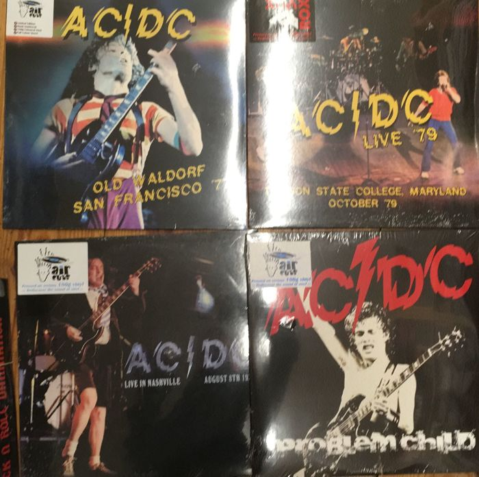 Four albums of AC/DC || Limited edition || 180 gram vinyl || Great quality || Numbered || Coloured vinyl
