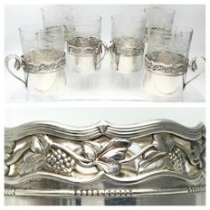 WMF - Set of 6 holders with Toddy glasses