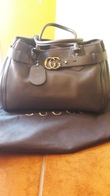 Gucci - Leather GG Running Large Tote bag