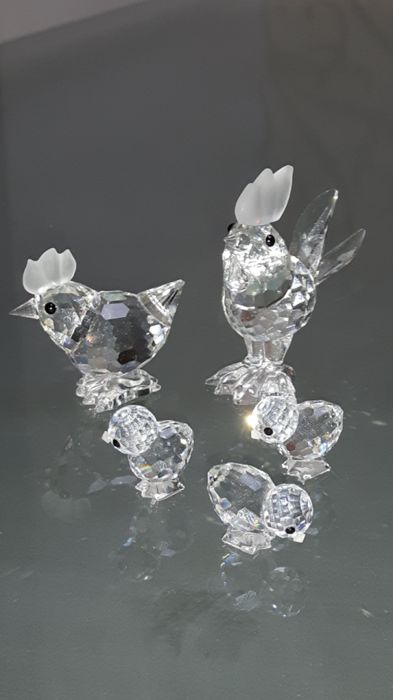 Swarovski - goose - pigeon - chicken - rooster - chicks