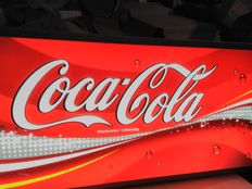 COCA COLA - LIGHT BOX 105/40/10 cm - ca1995-8 - aluminium frame . Good condition . Germany edition.