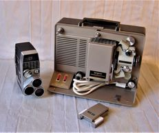 Argus projector/ Bell & Howell film camera