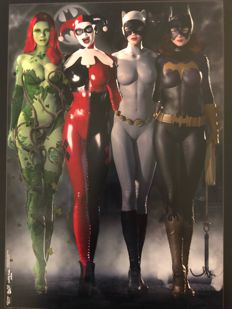 Paul Sutton - Gotham Girls : Evolution - Set Of 5 Limited Edition Prints - Including Poison Ivy, Harley Quinn, Catwoman And Batgirl - (2017)