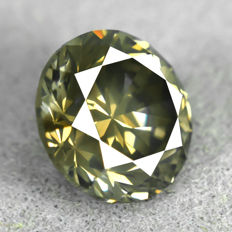 Diamond – 1.52 ct, Natural Fancy Dark Yellowish Grey – VG/EXC/EXC