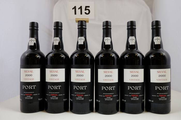 2000 Quinta do Noval Silval Vintage Port - 6 bottles
