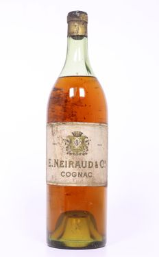 Neiraud & Cie cognac, probably 1 liter bottle, 1950's or 1960's, very collectable