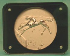 Salvador Dalì - original solid silver medallion - Los Angeles 1984 Olympic Games - Equestrian