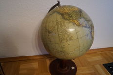 Large antique Columbus globe, model 200 German Reich with compass