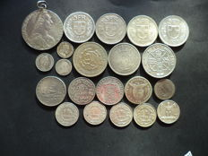 World - Lot of 21 coins - 20 silver