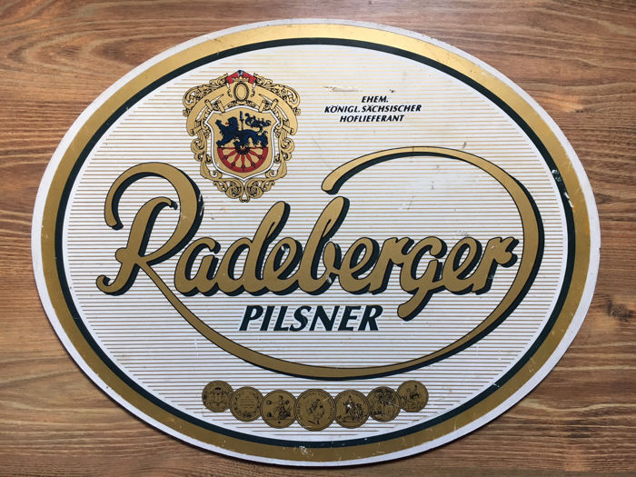 Nice and vintage big sign Radeberger Pilsner Beer