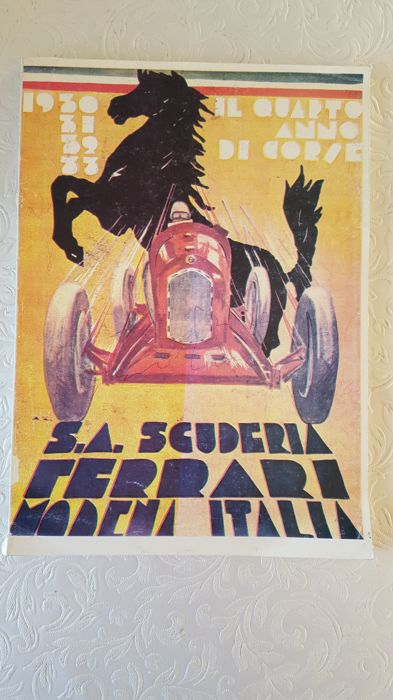 Book from 1933 of S.A. Scuderia Ferrari Alfa Romeo team
