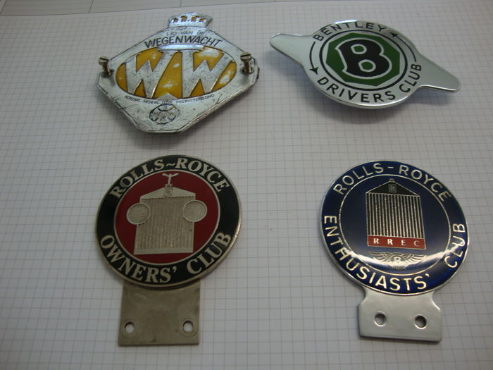 Car emblems Rolls-Royce, Bentley and others - Catawiki