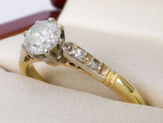 0.51/0,47 Ct solitaire diamond ring -  ***NO Reserve price***