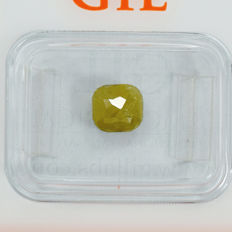 Natural Fancy Intense Greenish Yellow Diamond – 1.03 ct – NO RESERVE PRICE