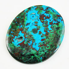Very Rare & Unique big Druzy Azurite - 85.00 carat - 50x41x04  MM