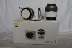 Nikon 1 J3 Double Zoomkit, white version and 14.2 megapixel