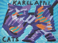 Karel Appel - Happy cat
