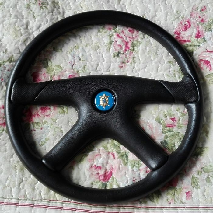 Momo Rare Tazio Nuvolari Gran Premio Leather Steering Wheel