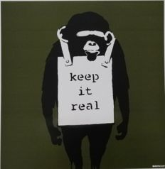 Banksy - Keep it Real (Green)