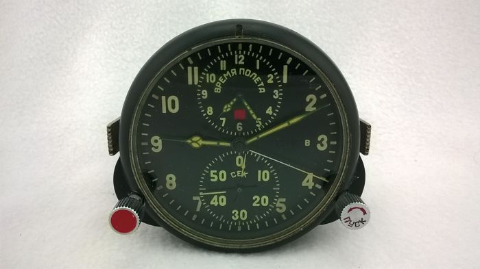 Aviation watches АЧС- 1 № 17748 pilot for the fighter MiG (СССР/USSR). At the end of the 20th century.